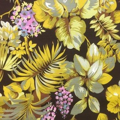 groen geel bloem blad retro