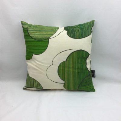 blad groen beige retro kussen 40x40