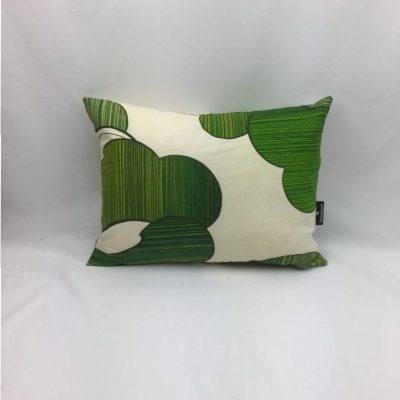 blad groen beige retro kussen 30x40