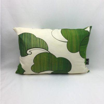 blad groen beige retro kussen 35x50