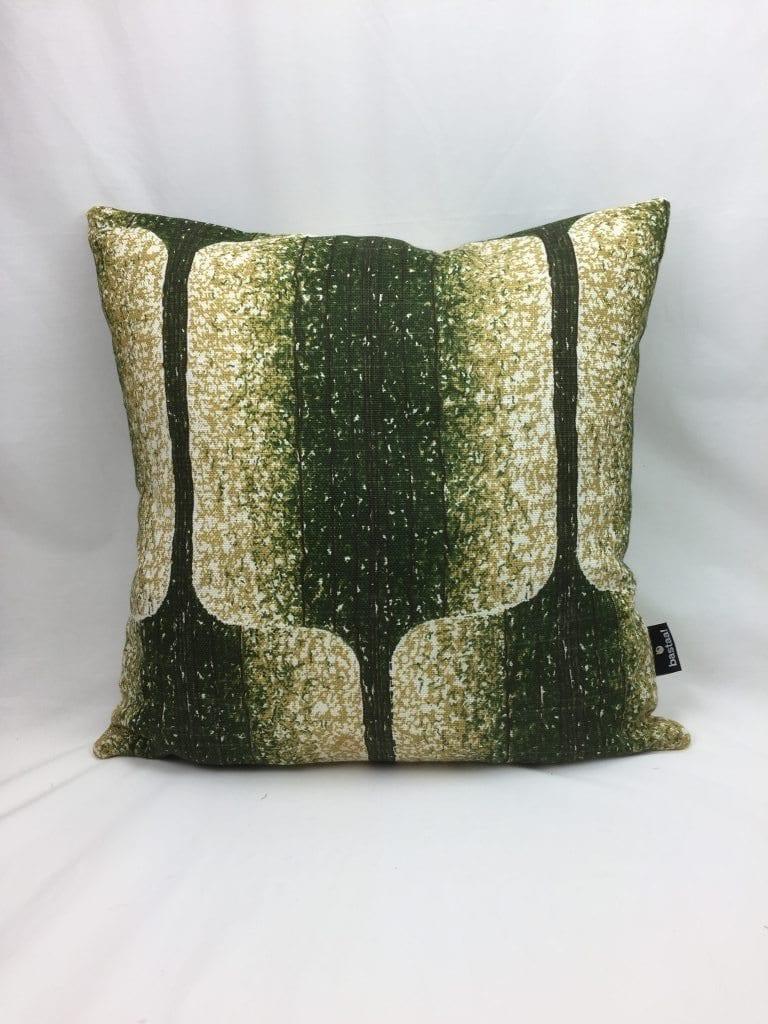 patroon groot groen ecru retro   Bastaa!