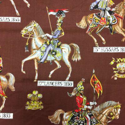 vintage stof met ridders