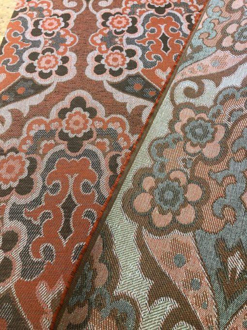 geweven vintage stof oranje
