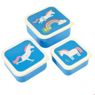 unicorn lunchdoosjes 3 stuks