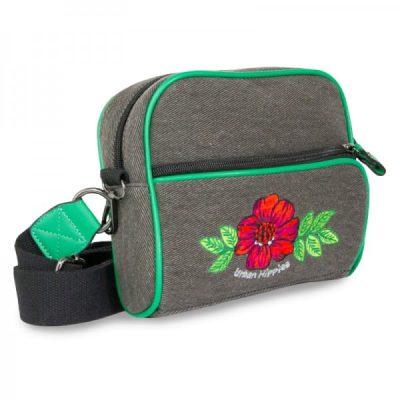 retro schoudertas met bloem