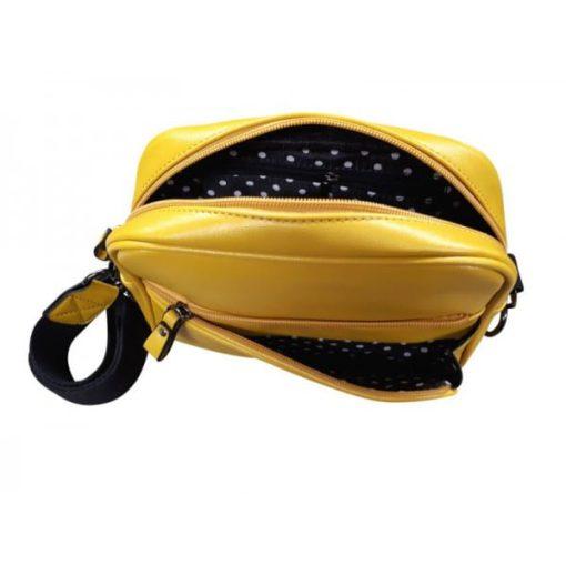 Retro dames schoudertas geel