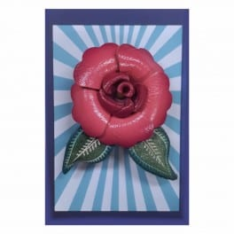 haarspeld of broche van leer roze
