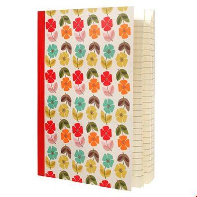 vrolijk notitieboekje bloemen