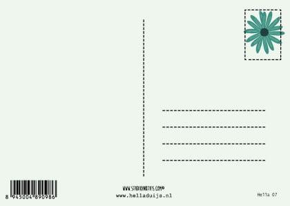 ansichtkaart achterkant
