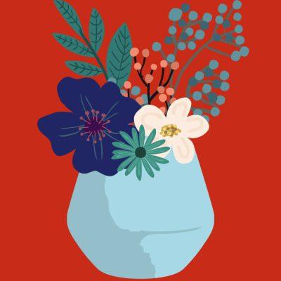 bloemen ansichtkaart