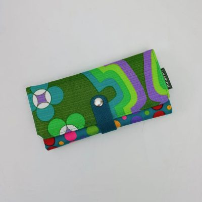 retro portemonnee groen