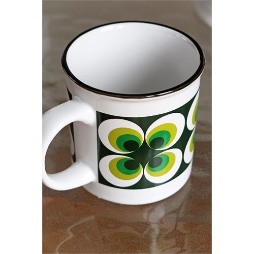 grote koffie beker groen retro