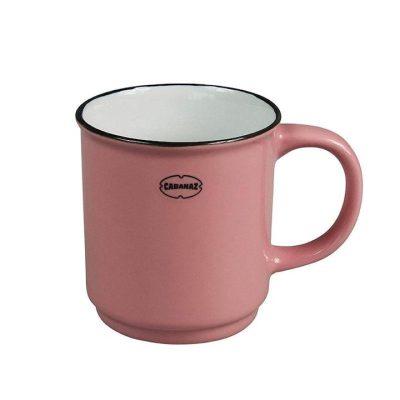 roze koffiemok vintage retro