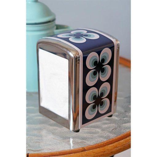 tissue dispenser blauw ramona retro