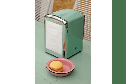 houder servetten napkins groen retro