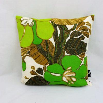 bloem-groen-kussen-retro-40x40cm