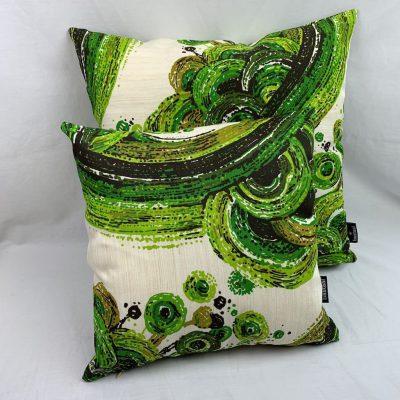 retro kussens compleet groen