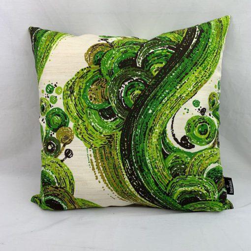 retro kussen groen vintage stof