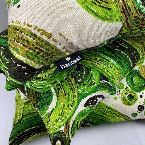 kussens groen vintage stof
