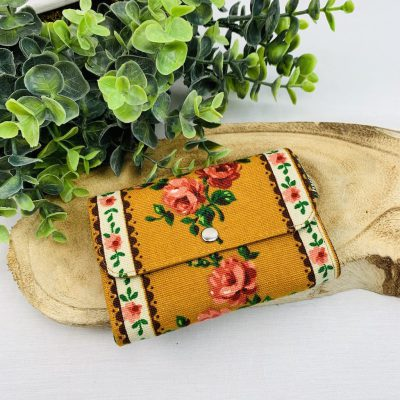 retro portemonnee bloemen