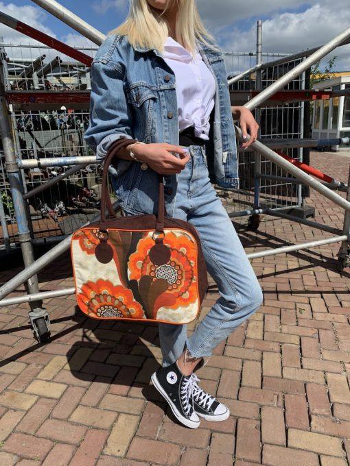 vintage tas dames handgemaakt