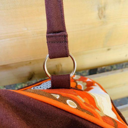 detail weekendtas schouderband