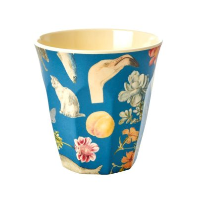 melamine cup medium Art blauw