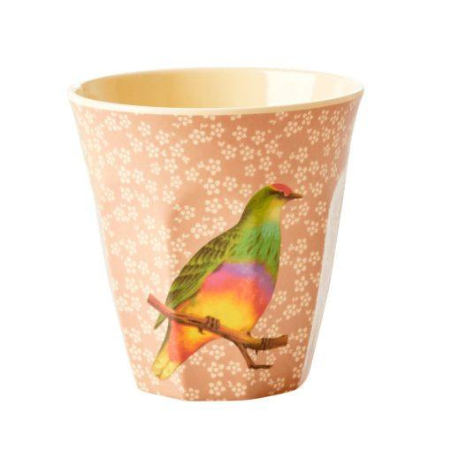 melamine beker medium vintage vogel