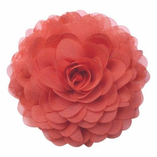 broche bloem coral rood