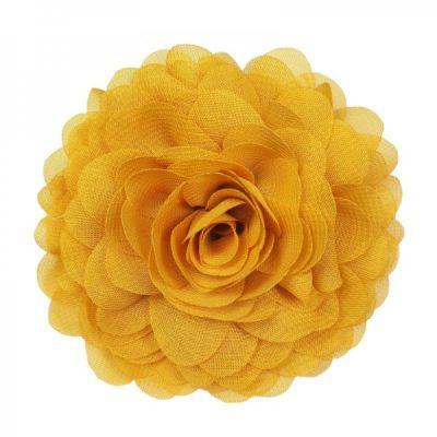 broche roos geel bloem