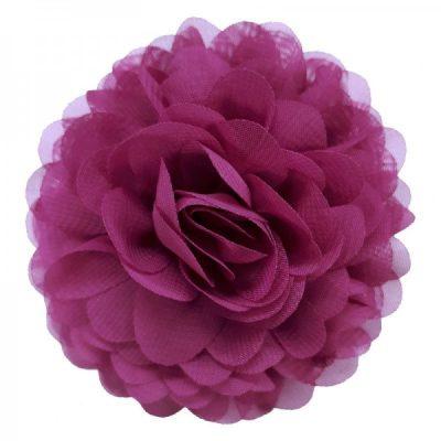 bloem chiffon broche roze