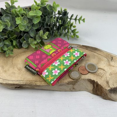 handig portemonnee roze retro