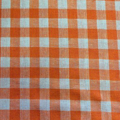 blokje oranje wit stof