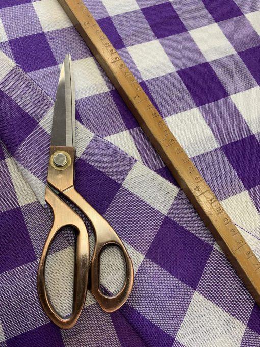 vintage stof paars blokje