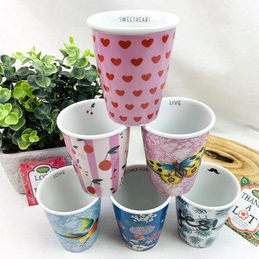 vrolijke cups porselein