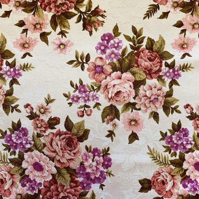 engelse bloemen stof vintage
