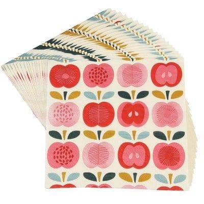 servetten appel vintage