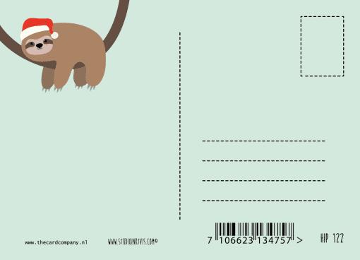 kerstkaart luiaard