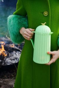 groene thermosfles 1 liter