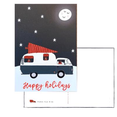 happy holidays kaart