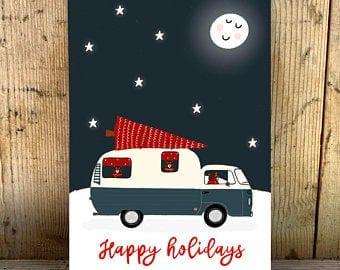 kerst postcard holiday