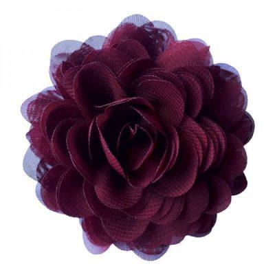 bordeaux rood corsage bloem