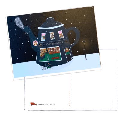 kerst postcard winter