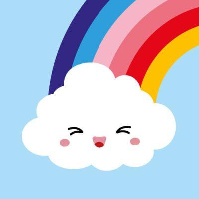 rainbow ansichtkaart