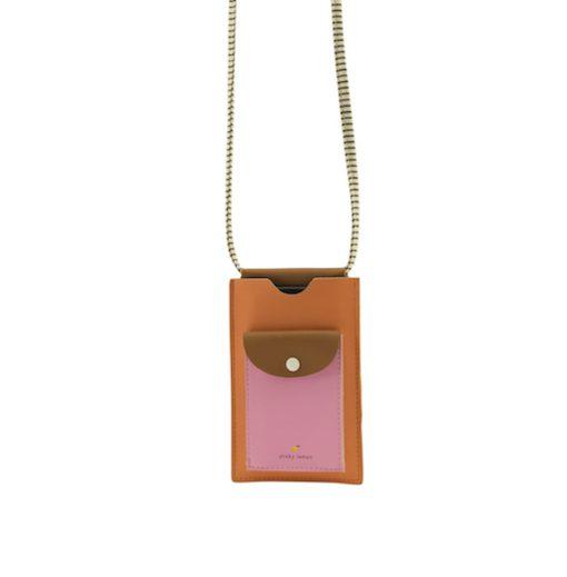 telefoontasje met koord roze