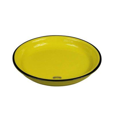 gebaksbordje retro geel
