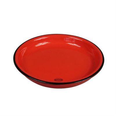 klein keramiek bordje rood