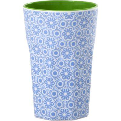 melamine beker large blue and white marrakesh