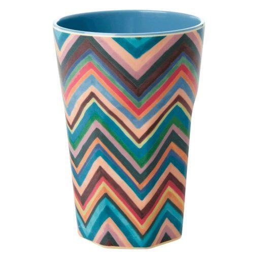 melamine cup large zig zag