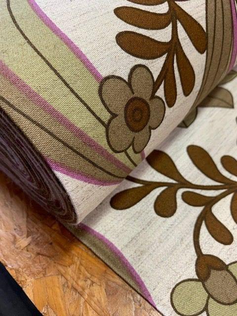 vintage stof bruin lila
